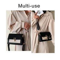2021 Luxo Senhoras Crossbody Color Scrub Bags Sling Mulheres Cadeia Mensageiro Mensageiro Ombro de couro bolsas e bolsas Contraste para IglHB