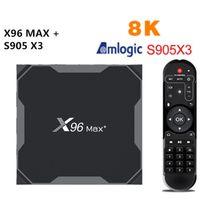 Android 9.0 X96 Max plus Smart TV Box Amlogic S905X3 4GB 32GB 64GB 8K 2.4G 5G Dual Wifi BT4.0 X96Max