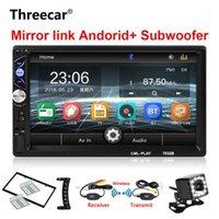 "2Din Araba Radyo 7 ""Subwoofer MP5 Çalar için Touch MirrorLink Oto Ses Çalar Autoradio Bluetooth Dikiz Kamera Teyp Kaydedici1"