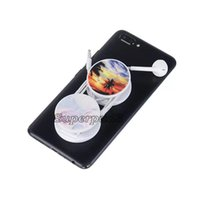 Plastic Flexible Round Mobile Phone Holder Foldable Stand Fa...