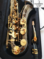 الصورة الحقيقية الجديد تينور ياناجيساوا W037 ب ب موسيقى صك مفتاح الساكسفون الأسود الذهبي اللؤلؤ أزرار الجودة براس