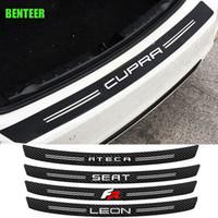 Наклейка автомобиля из углеродного волокна для сиденья Cupra Leon Ibiza Ateca Fr Cordoba Str