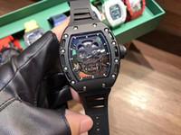 3a Holly Man Mechanical Watch Series.Skull et Crossbones Série.Le Strap.x50 43 mm.Louxurée Montre mécanique 3A Qualité