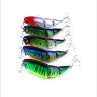 1 pcs 3 segmento isca de pesca 11cm 15.5g 3d olhos lifelike pesca dura isca de bait com 2 ganchos pesca wobbler fishin jllxrj