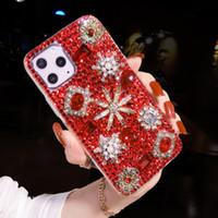 Moda Bling Kristal Elmas Gem Çiçek Kılıfları Kapak Samsung Galaxy Not için 20 10 9 8 S21 S20 FE Ultra S10E S10 Lite S9 S8 Artı Lüks DIY Telefon Kılıfı