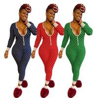 2020 Yeni Moda Kadın Tasarımcı Giysi Pijama Baskı Kadınlar için Uzun Kollu Tulum Uzun Kollu Pantolon Ince Rompers LY8115