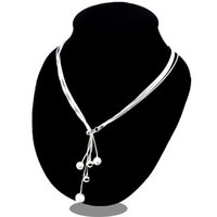 Sterling-Silber-Schmuck-Collier 925 Silber Halskette für Frauen-Anweisungen Herz Anhänger Schmuck Collares Colar Bijoux-Link-Kette