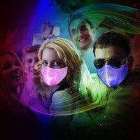 Светодиодные партии Маски 2020 маскарадных масок для Halloween Party Supplies светодиодных вверх Rave Маски для партии Фестиваля Танец подарки DHL Доставки 2020