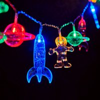 LED Children' s Room String Light with Astronaut Spacesh...