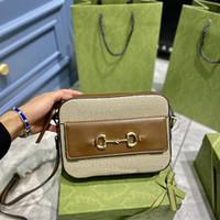 Satteltasche Frauen Handtasche Mode Horsebit 1955 Kleine Umhängetasche Luxurys Designer Taschen Mini Handtaschen Geldbörse Crossbody Taschen Kalbsleder