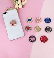 Titular de anel de luxo bling diamante carrinho de telefone celular moda glitter dedo mão aperto universal bracket para todos os celulares