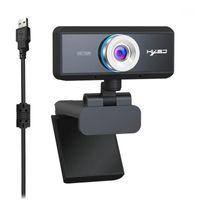HXSJ S90 كاميرا ويب HD 720P مع مايكروفون 360 درجة قابل للتعديل كمبيوتر شخصي كاميرا تسجيل مكالمة فيديو للاجتماع عبر الإنترنت ألعاب الألعاب 20pcs / lot1