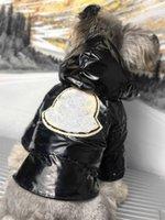 الحيوانات الأليفة الشتاء سميكة خبز الملابس الكلب معطف دافئ الأرجواني والأسود مشرق الوجه معطف الحيوانات الأليفة هوديس سترة S-2XL مع التطريز تقليم