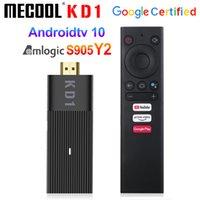 MeCool KD1 TV Stick Amlogic S905Y2 TV Box Android 10 2GB 16GB دعم جوجل معتمد صوت 1080P 4K 2.4G5G WIFI BT TV-Dongle