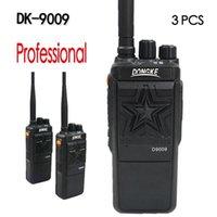 3 قطع DK-9009 المهنة Walkie Talkie راديو المحمولة 10km المحمولة الراديو القوي اتجاهين راديو التواصل Walkie-Talkie1