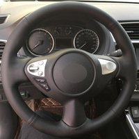 DIY Hand-stitched 100%Original Artificial Leather Car Steering Wheel Cover For Infiniti FX FX35 FX37 FX50 15 inch 38 cm