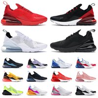 Hot New 270 Correndo Tênis Para Mens Mulheres Top Quality 27c Corredores Esportes Sneakers Triple Preto Branco Tênis Treinadores de Mesh