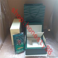 Luxury designer Top Quality boxes Dark Green Watch Box Gift Woody Case For Rolex Watches Booklet Card Tags and Papers In English Swiss WatchesBoxes 0036