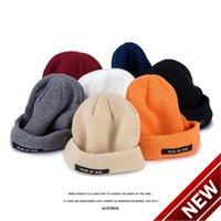 Senti per la linea principale di Dio Suede piccola etichetta piccola etichetta per maglieria cappello di lana high street versatile uomini e donne H508