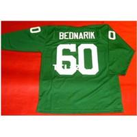 Erkekler # 60 Chuck Bednarik Özel 3/4 Sleeve Kolej Forması Boyutu S-4XL veya özel herhangi bir isim veya numara forması