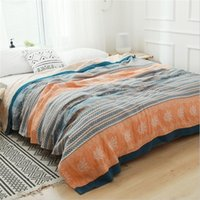 Cotton Garza Muslin Throw Coperte sul letto Confortevole Biancheria da letto Coverlet Soft Cover BedsPread Sheet Travel Adult Throw Blank Blanket LJ201208