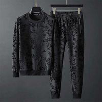 2020 merci Autunno europee nuovo collo rotondo semplice jacquard personalizzato pantaloni maglione lungo manica in due pezzi marea vestito degli uomini