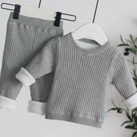 Ensembles de vêtements nés Bébé Set 2021 Hiver Toddler Girl Cot de coton côtelé Coton à manches longues pour 1er anniversaire 2 3 4 5 6 ans