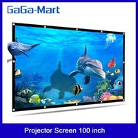 Portable HD Projector Screen 100 inch 16: 9 Folded Thick Dura...