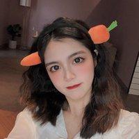"""كوريا لطيف، إبداعي، مضحك، غسل الوجه، صافي أحمر، محاكاة ساخرة، جزرة، رئيس السمك المملح، Tiktok، ونفس اكسسوارات الشعر """". 377W"""