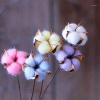 1 unids Hecho a mano Algodón de algodón Spray seco Flor Eterna Caja de regalo Material de flores DIY Coche Colgante Material Ornamento del hogar1