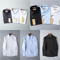 Designer Mens Kleid Hemden Mode Lässige Hemdmarken Männer Hemden Frühling Herbst Slim Fit Hemden Chemises de Marque pour hommes