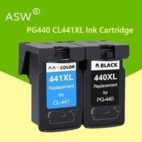 Mürekkep Kartuşları ASW PG440 CL441 Kartuş Yedek Canon PG 440 CL 441 440XL Pixma MG4280 MG4240 MX438 MX518 MX378