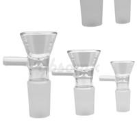QPSOMK VIP 14 мм 18 мм Стекло курение лук табак и травы сухого чаша слайд для стеклянных бонг и трубы мужская совместная миска с ручкой