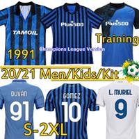 2021 Atalanta FC Soccer Jerseys 1991 92 الرجعية Atalanta Football Shirts Gomez L.Muriel Ilicic de Roon Duvan Men Kids Kit تايلاند زي