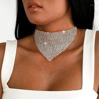 Chokers Stonefans Bib Gargantilla Collar Rhinestone Declaración de Lujo Boda Chocker Fashon Jewelry1