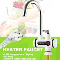 Electric Hot Faucet Water Heater Electric Tankless Water Heating Kitchen Faucet Digital Display Instant Water Tap 3000 W Free Shipping