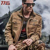 77City Killer Askeri Ceket Erkekler Artı Boyutu 6XL Bombacı Ceket Erkekler Sonbahar Kış Rahat Pamuk Uçuş Ceket Jaqueta Masculina X1025