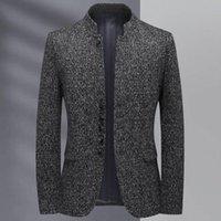 Nova chegada moda alta qualidade outono inverno stand gola homens terno juventude único casual casual blazer plus size m-4xl