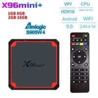 Android 9.0 Smart TV Box X96 Mini + Amlogic S905W4 2GB 16GB 4K Lecteur multimédia 2.4G 5G WIFI Google Play X96Mini Set Top Box