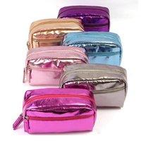 الأزياء أكياس مستحضرات التجميل للماء النسخة الكورية بو الجلود غسل حقيبة تخزين حقيبة السفر المكياج حقيبة ملونة WY1093