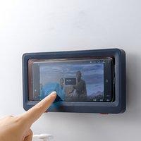 كسول الحمام حامل الهاتف للماء الهاتف مربع الحائط شاشة تعمل باللمس الهاتف حماية مربع لوازم الحمام XD24471