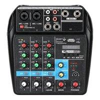 بطاقات الصوت A4 O Mixer 4 قنوات مع تأثير USB تردد تأثير بلوتوث (قابس الاتحاد الأوروبي)