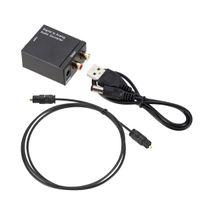 Convertisseur audio numérique à analogique Fibre optique TOSLINK Signal coaxial sur RCA R / L Audio Décodeur SPDIF ATV ATV ATV Amplificateur