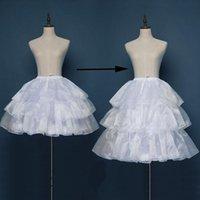 Röcke 3 Reifen Länge Einstellbar Lolita Crinoline Cage Rock Trubel Petticoat Frauen Hochzeit Brautstahl Unterrock Slips Für Mädchen