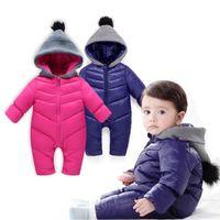 0-18m Neugeborenen Infant Winter Overall Für Baby Schneeanzug Schnee Mäntel Baby Jungen Mädchen Strampler Warme Overalls Kinder Baumwolle Kleidung 201030