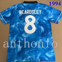TOP 1993/94 Retro Soccer Jerseys Star Beardsley Shearer Asprilla Emre Ketsbaia 1994/95 Away Blue Football Shirts 1995 Felpa Edizione Shirt Green Jersey Taglia S-XXL