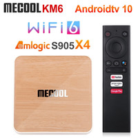 MeCool KM6 Deluxe Amlogic S905X4 TV Box Android 10 4GB 64GB WIFI 6 Google شهادة شهادة AV1 BT5.0 1000M