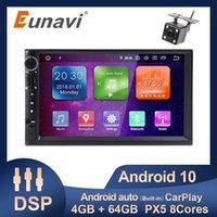 "Eunavi 7 ""العالمي 2din سيارة راديو لاعب الوسائط المتعددة PX5 8 الأساسية 4 جرام 64 جرام روم الروبوت 10 GPS الملاحة HD شاشة carply dsp سيارة دي في دي"