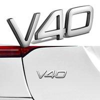 Gümüş V40 Logo Amblem Rozeti Sticker Volvo V40 XC90 Için Araba Gövdesi Sticker XC60 V90 S80 S60 S70 S90 V60 T4 T5 T6 T8 Volvo Sticker