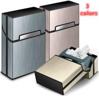 Freier DHL Neueste Bunte Zigarettenetui Aluminium beweglichen Tabak-Zigaretten-Rauchen Case Schutz Stash Shell Magnet Flip-Halter